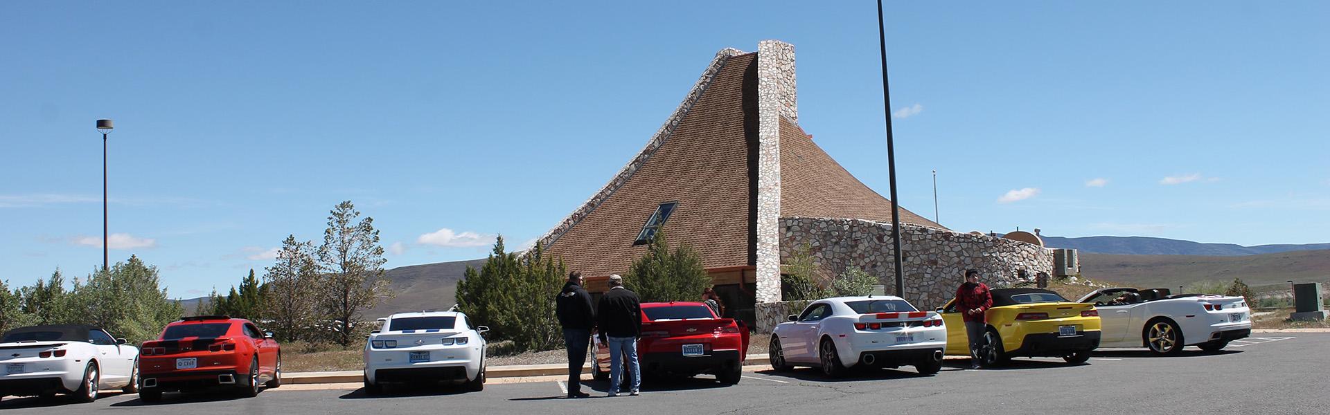 museum, visitor, exterior